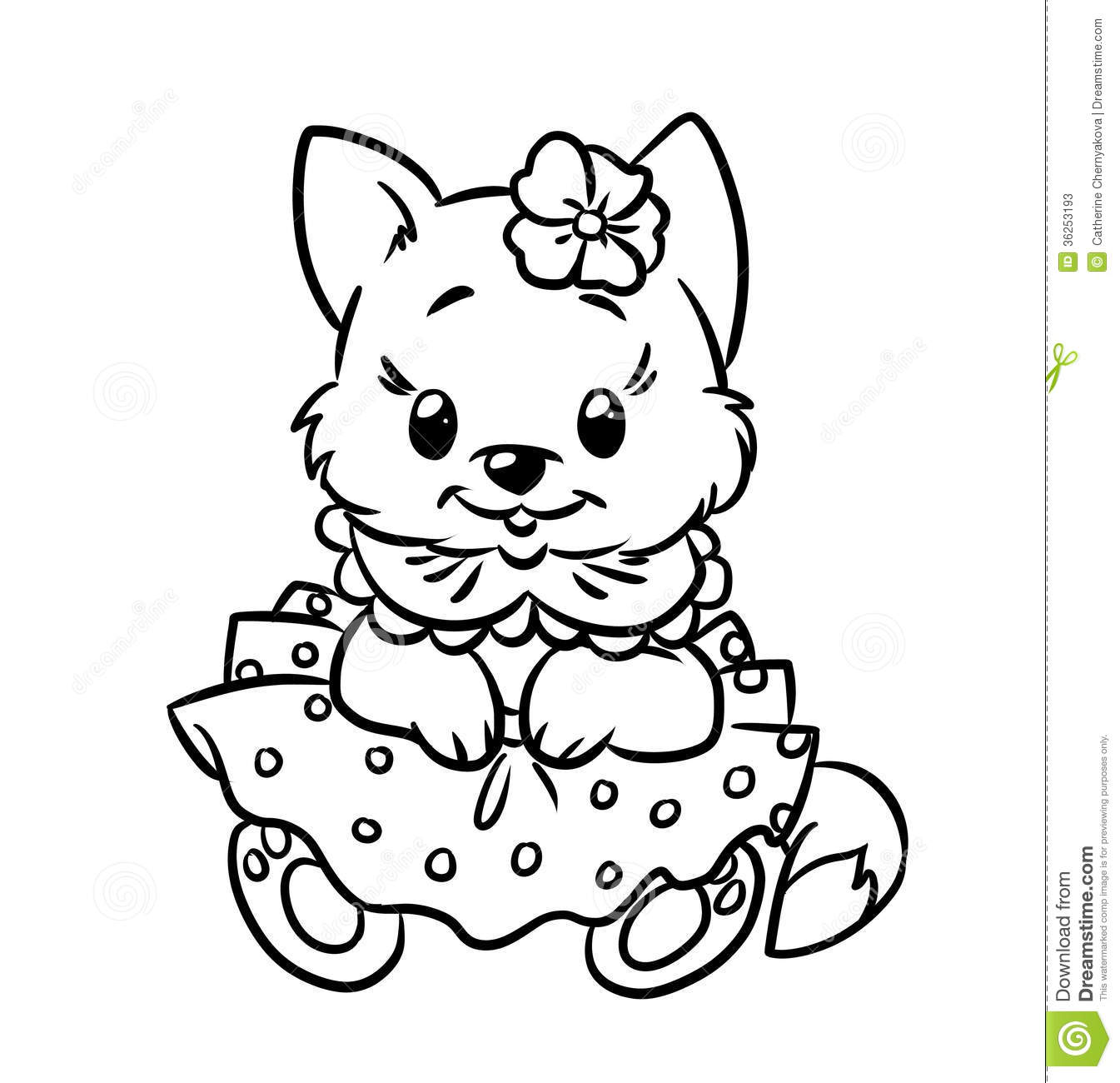 Baby Kitten Coloring Pages Stock Photos