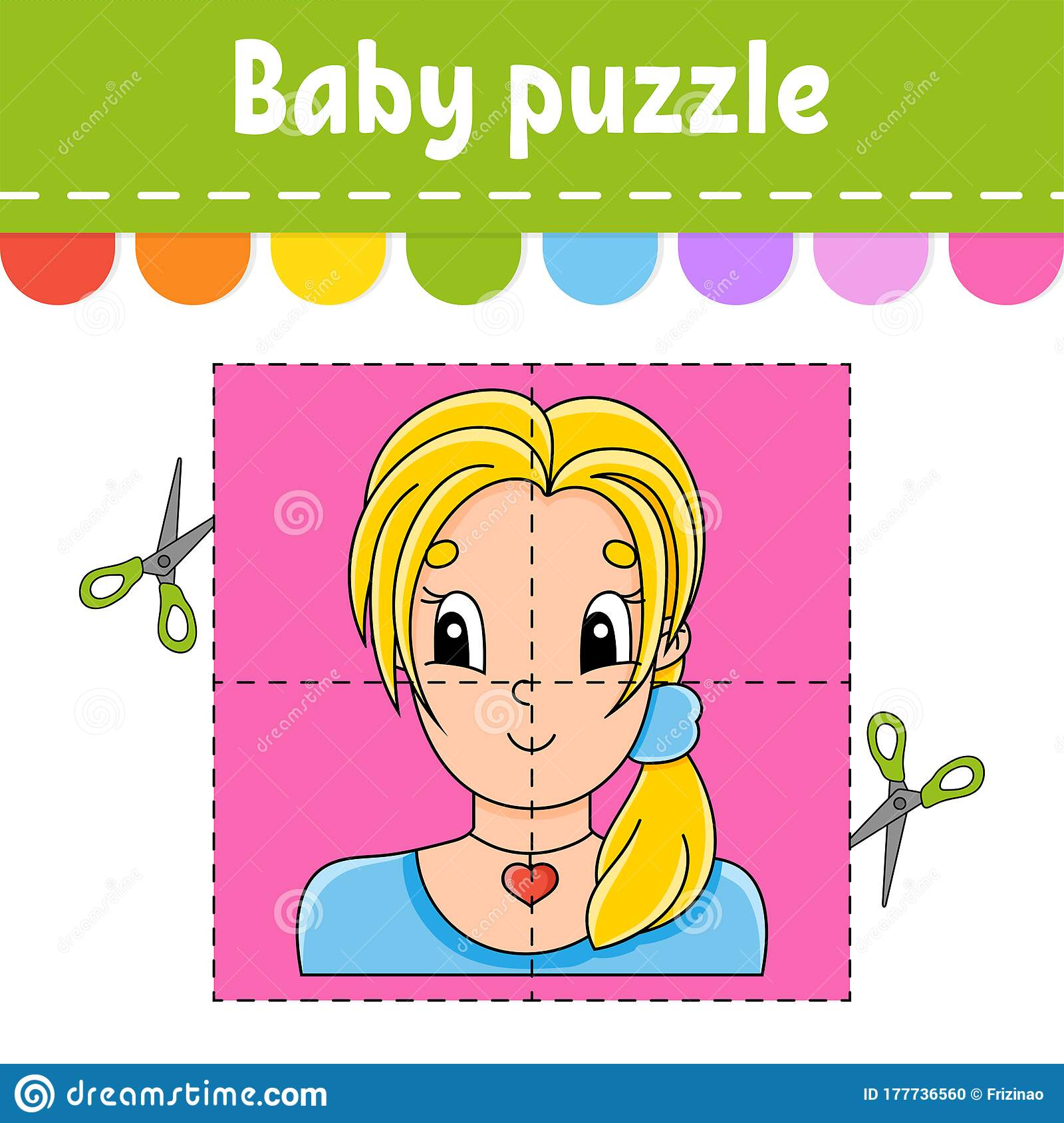 Baby Puzzle Easy Level Flash Cards Cut And Play