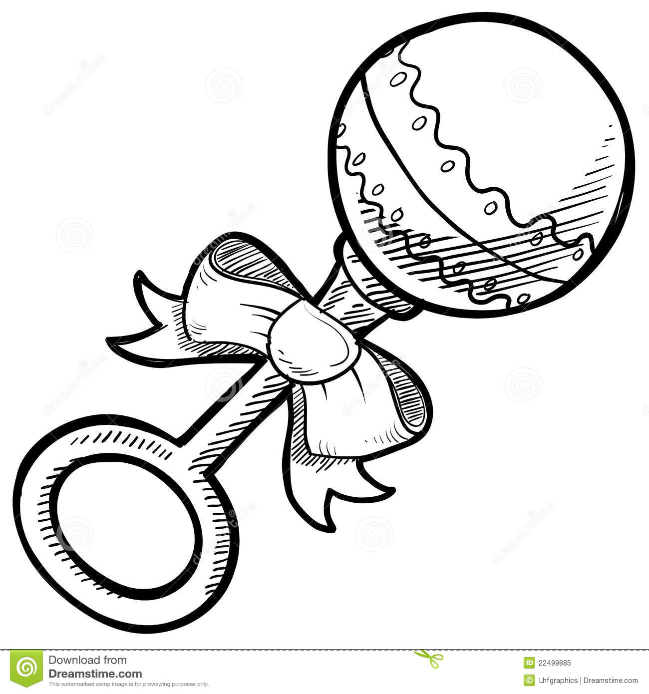 Baby Rattle Drawing Stock Vector Illustration Of Shaker