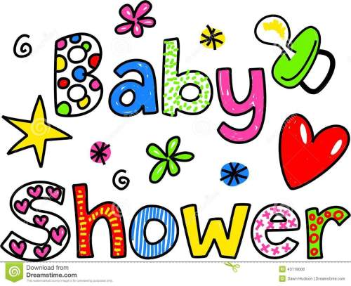 small resolution of baby shower cartoon text clipart