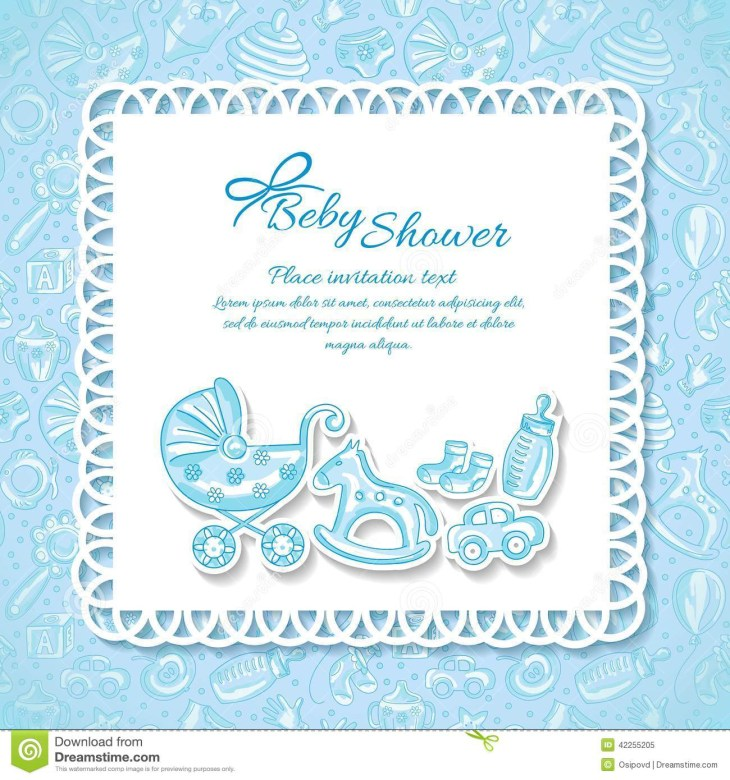 Baby shower, greeting card for baby boy