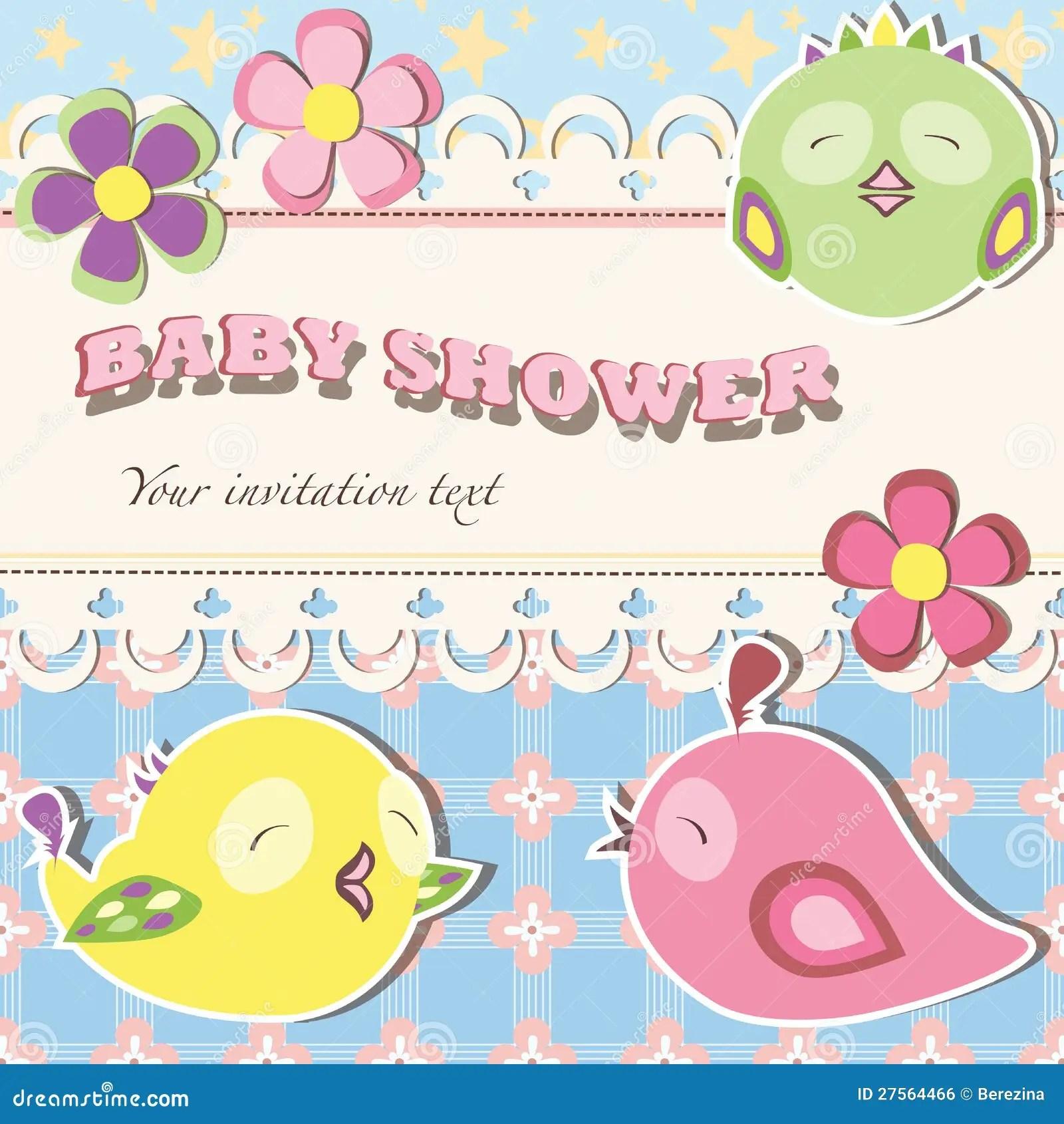 Baby Girl Elephant Shower Invitations