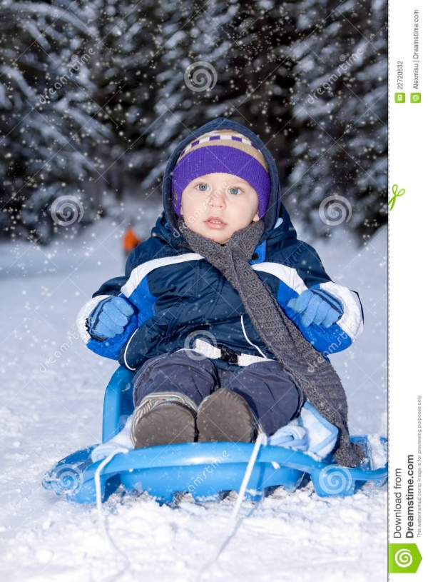 Baby On Sled Photography