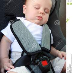 Baby Sleeping Chair Folding Dining Room Chairs In Car Seat Stock Image - Image: 20231601