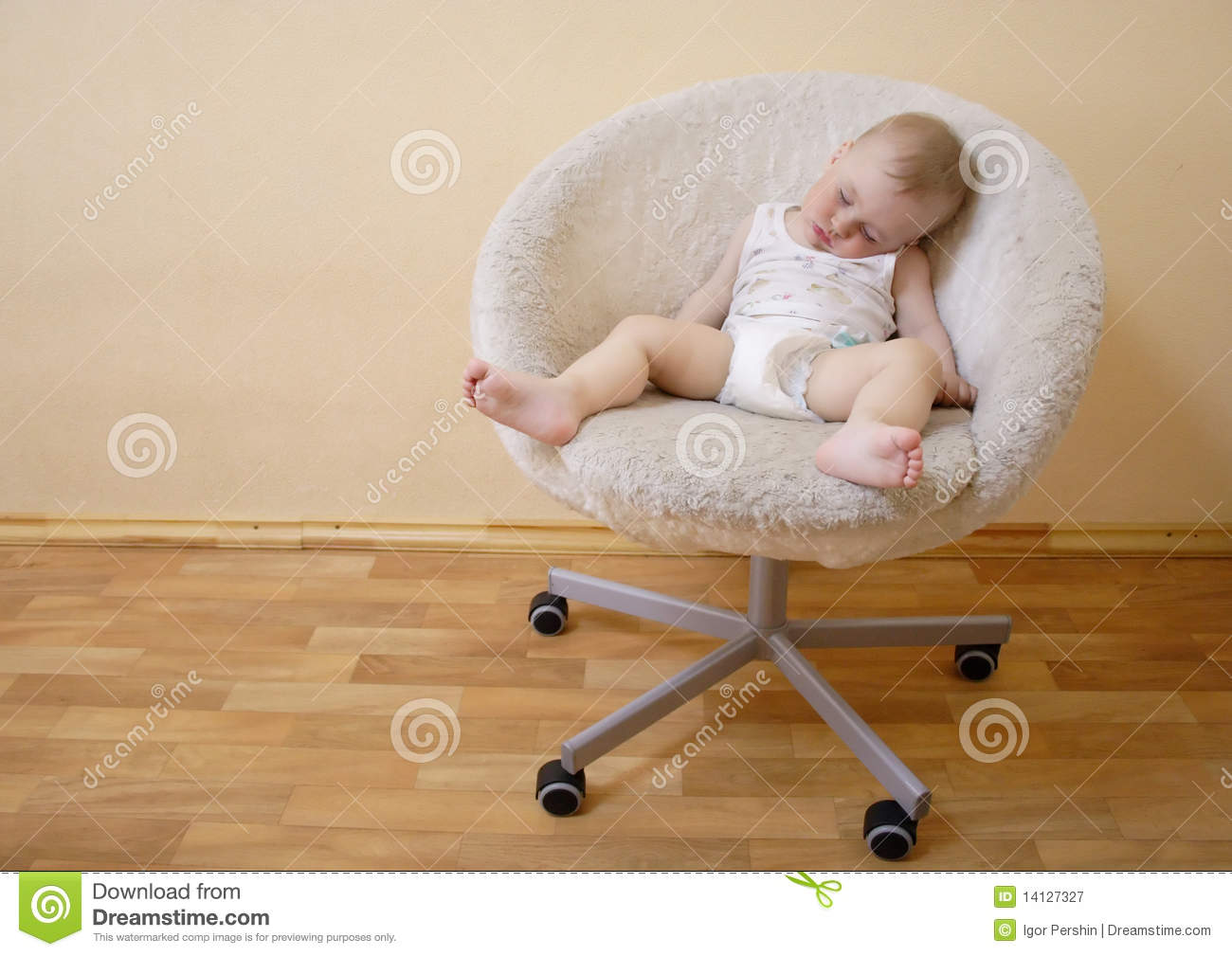 baby sleeping chair where to buy toddler table and chairs on stock image of cosy male