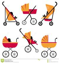 Baby Strollers Set Royalty Free Stock Photography - Image ...