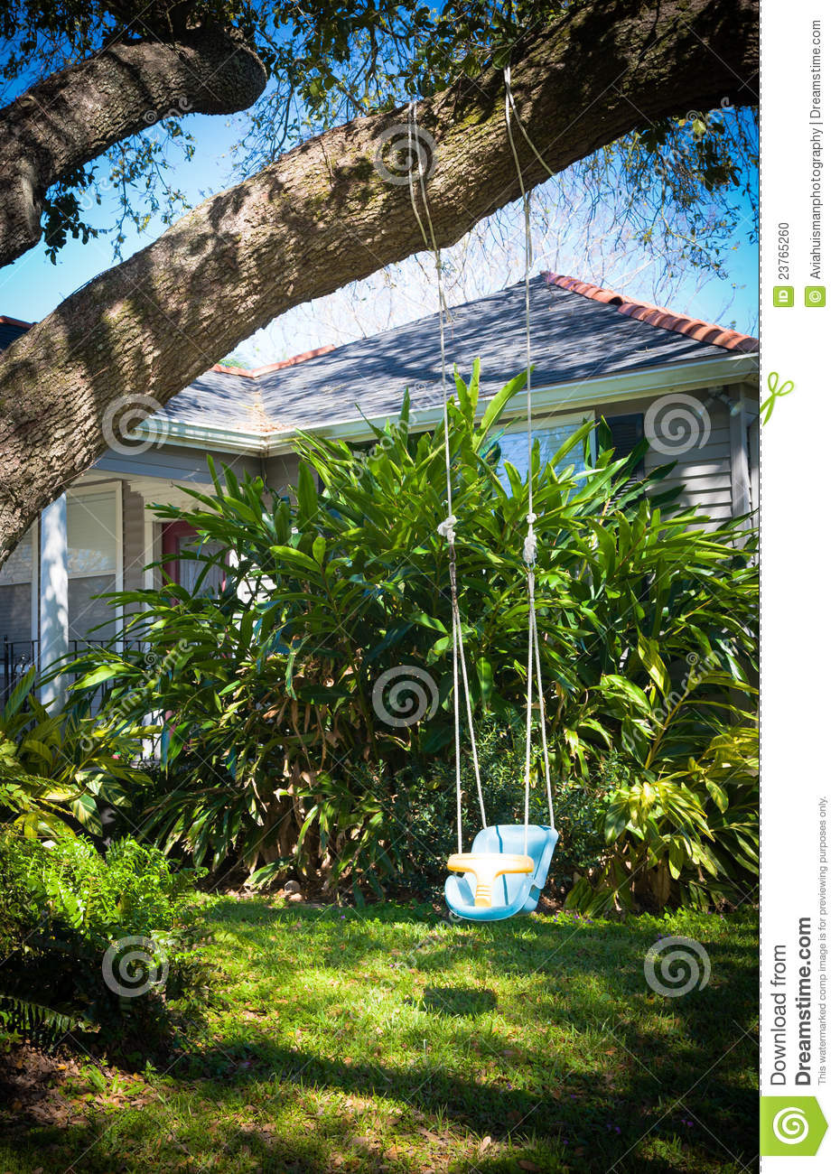 How To Hang A Baby Swing From A Tree : swing, Swing, Garden, Stock, Photo., Image, Playing, 23765260