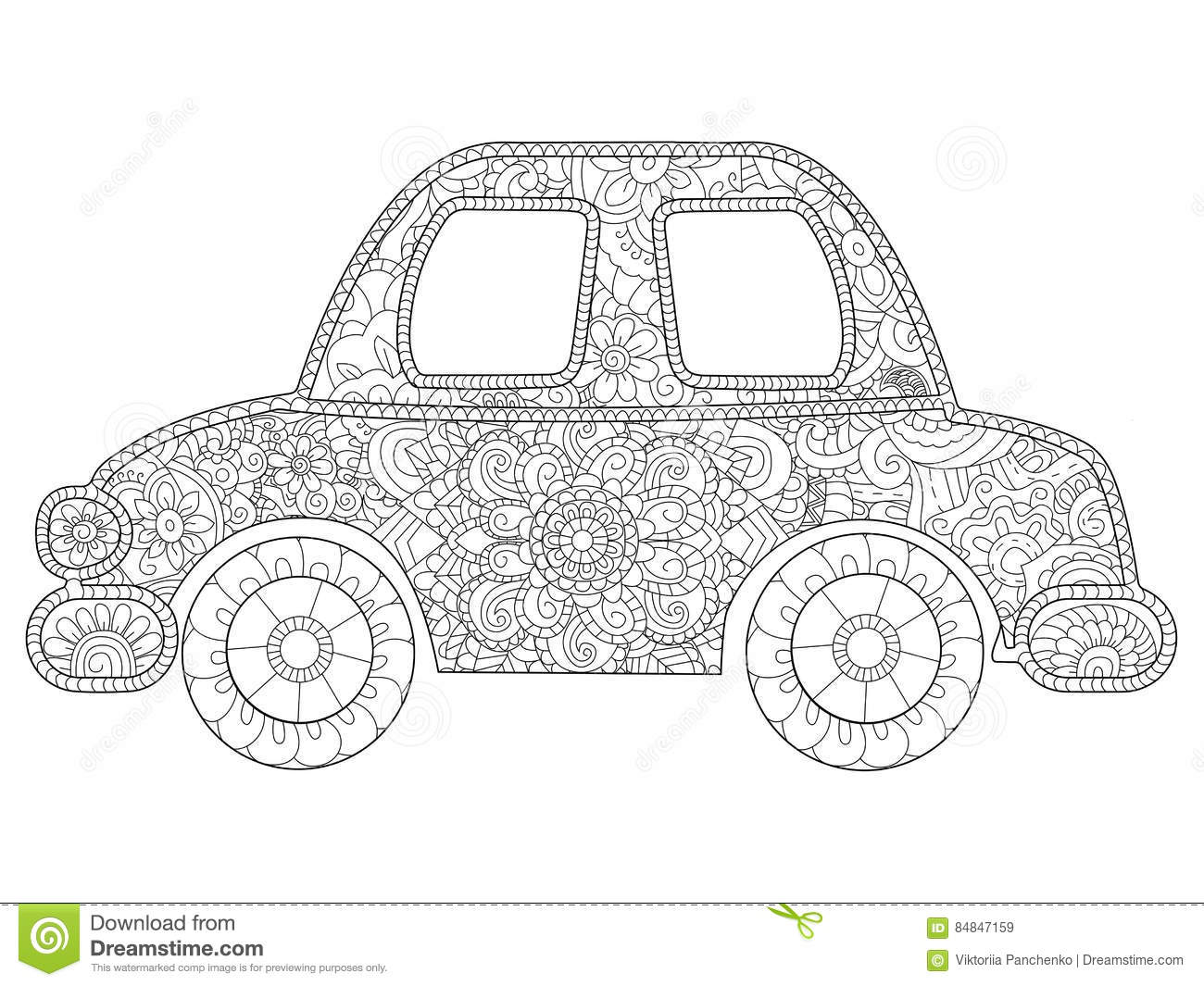 Car Coloring Book Stock Illustrations