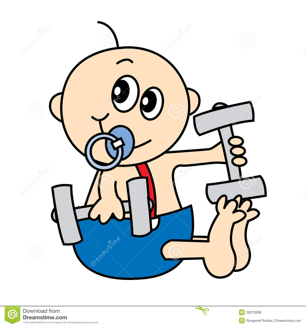 baby weights stock illustration