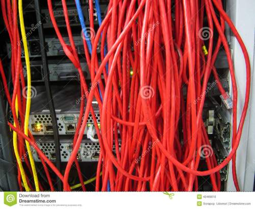 small resolution of back side server showing wiring cable