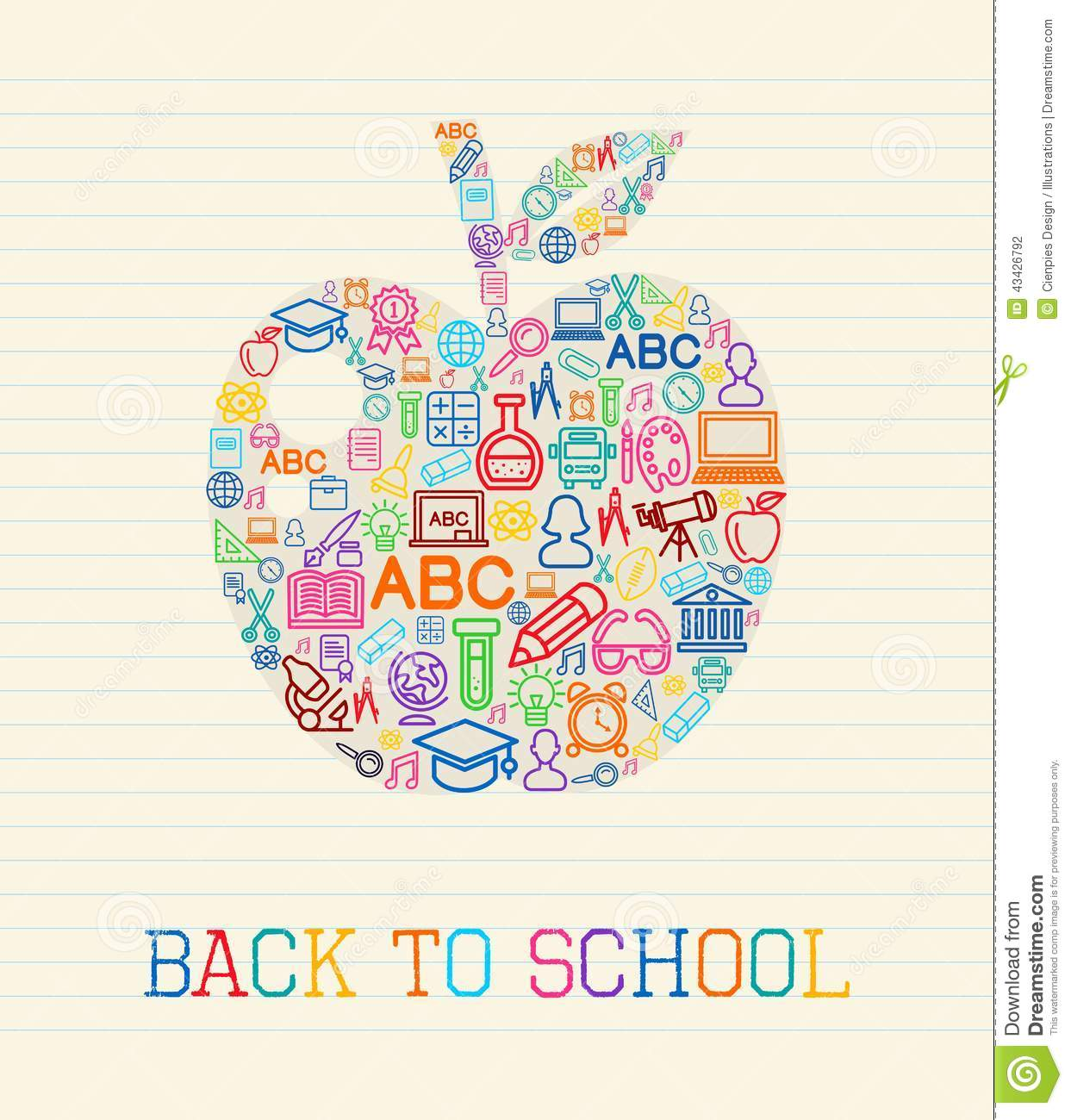 Back To School Apple Concept Illustration Stock Vector