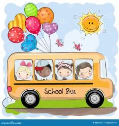 bus cartoon cute cartoons vector