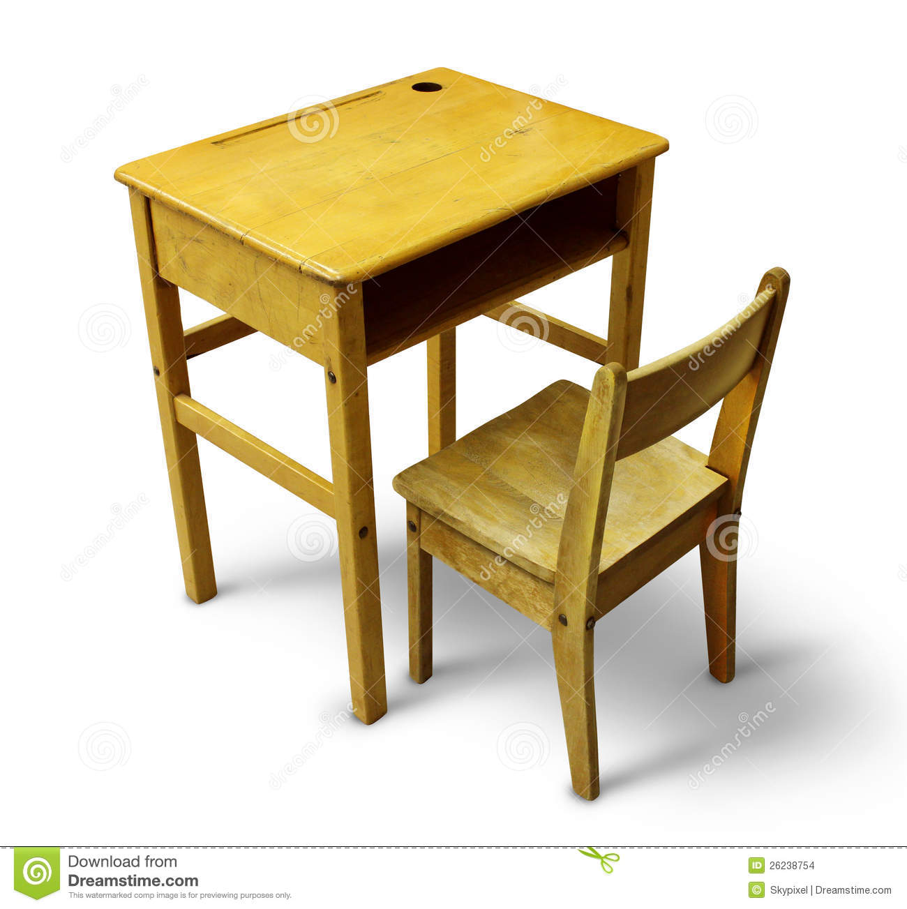 Wooden School Chairs Back To School Desk Stock Images Image 26238754