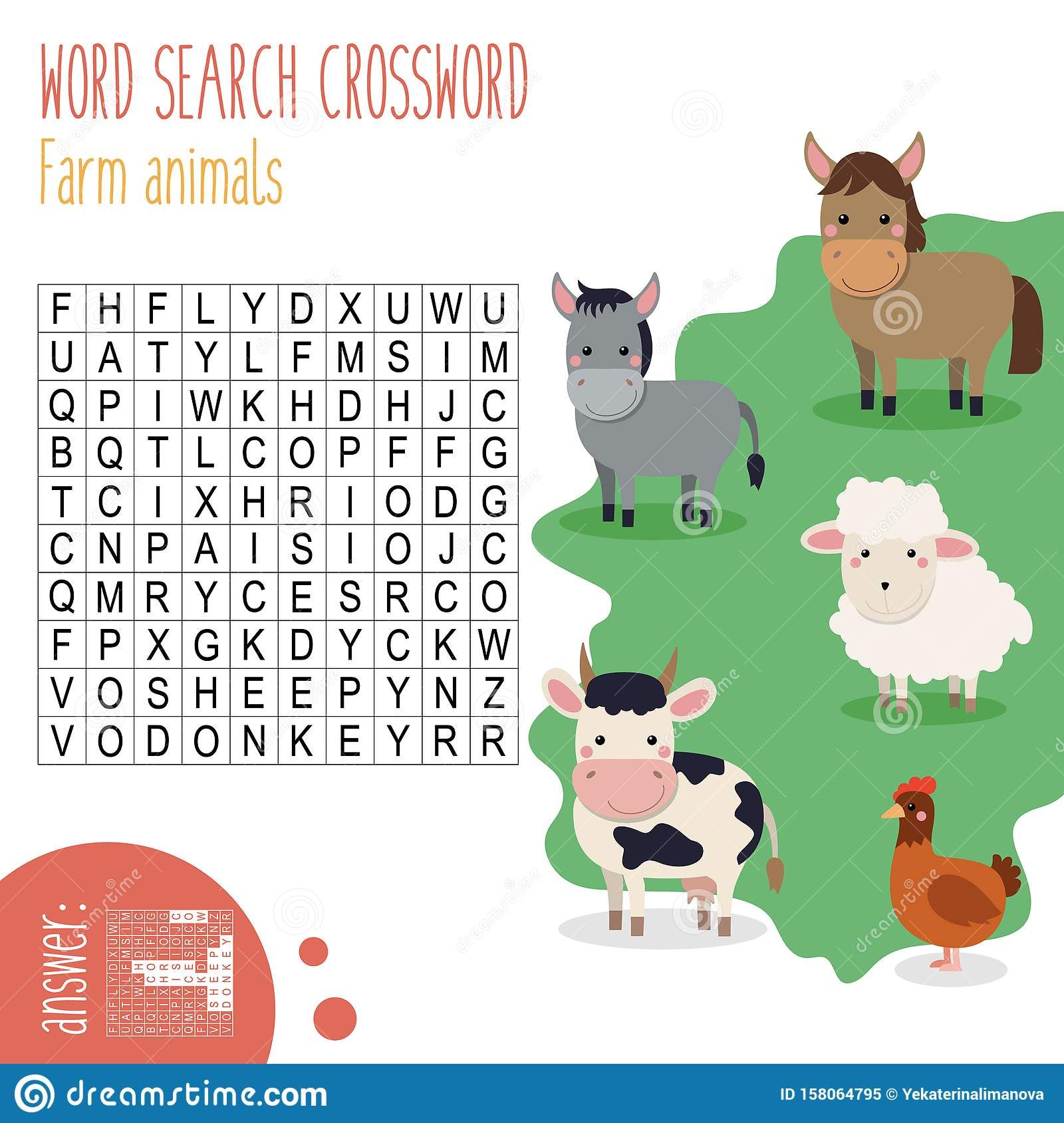 Back To School Easy Word Search Crossword Puzzle