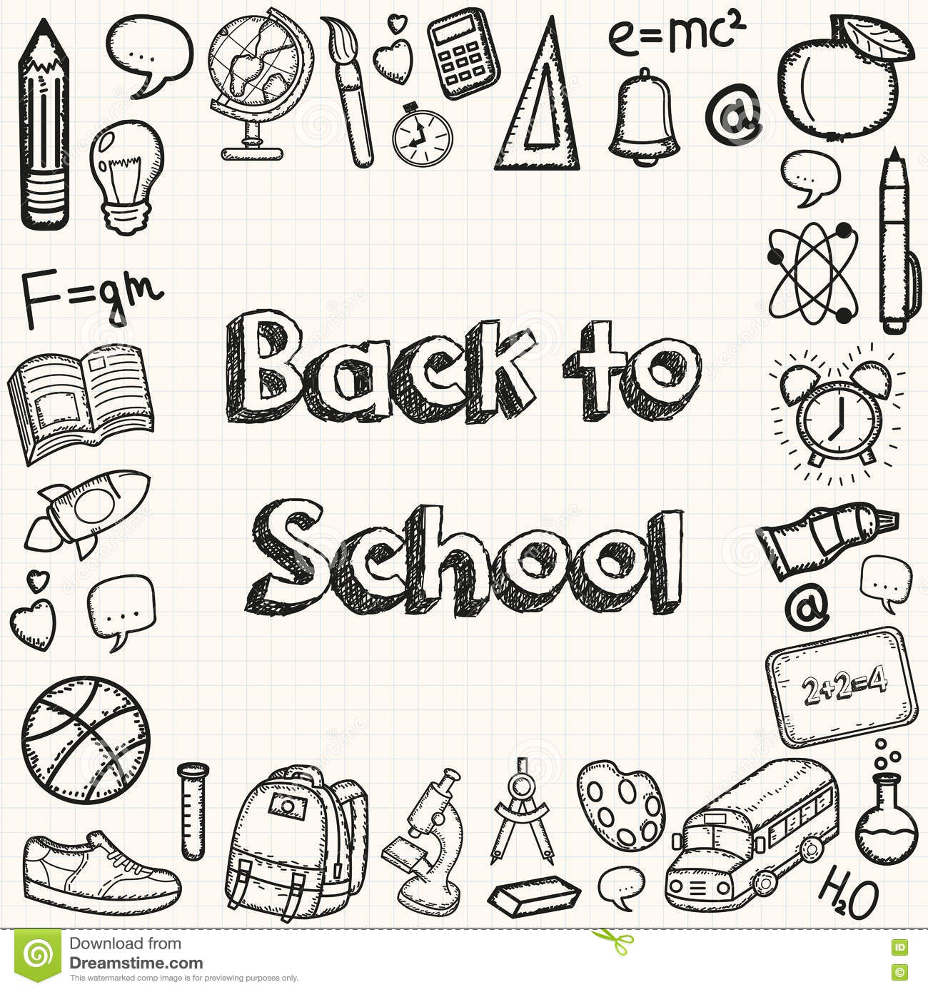 Back To School Hand Drawn Doodles Background Education