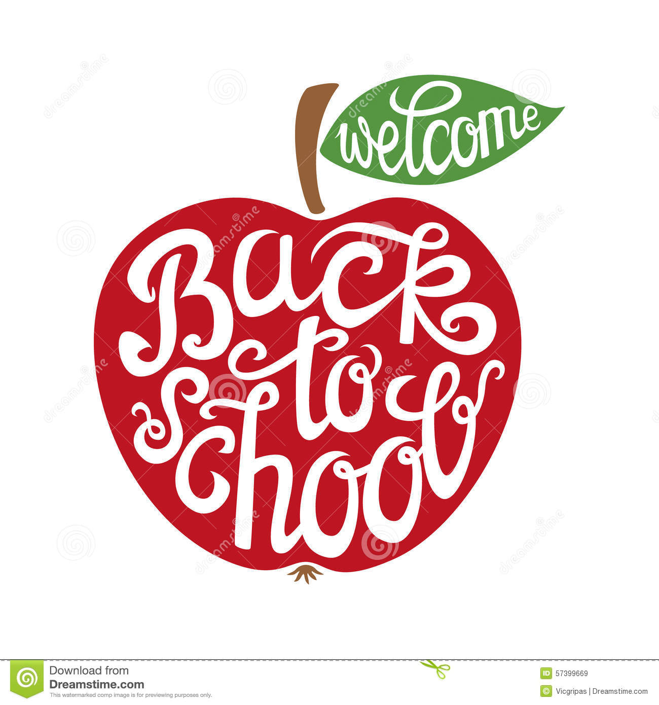 Back To School Hand Lettering Card Stock Vector