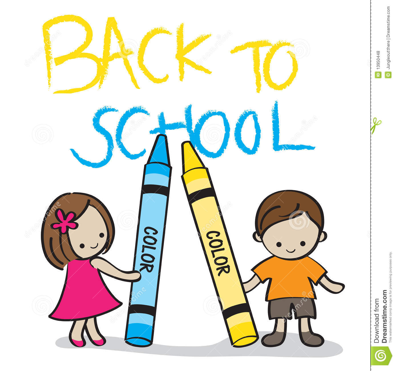 Back To School Kids Stock Vector Illustration Of
