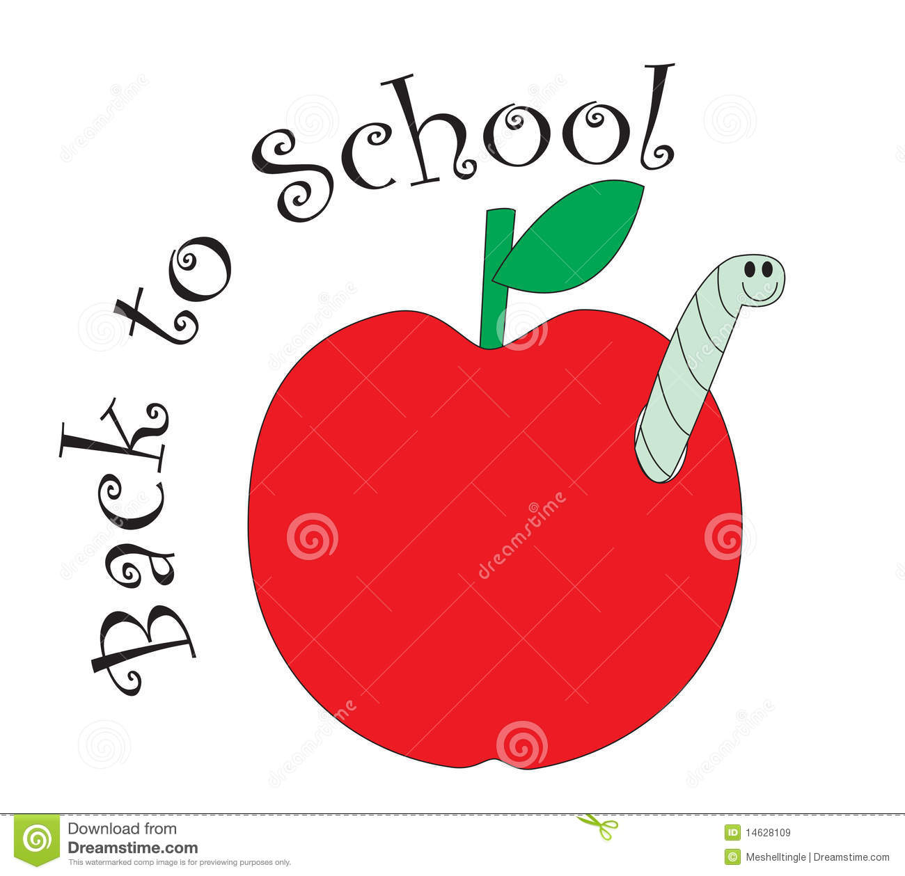 Back To School Red Apple Stock Vector Illustration Of