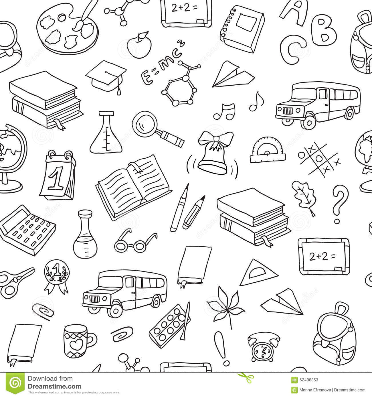 Back To School. Seamless Vector Pattern Stock Vector