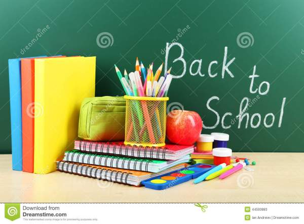 Back to School Supplies Books