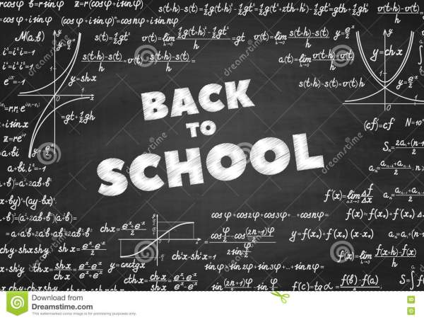 School Vector Education Background Stock