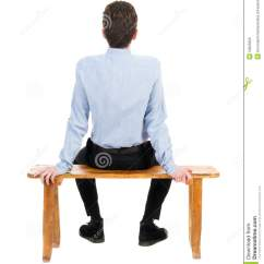 Behind The Chair App Lazy Boy Office Big And Tall Back View Of Business Man Sitting On Chair. Stock Photo - Image: 53905956
