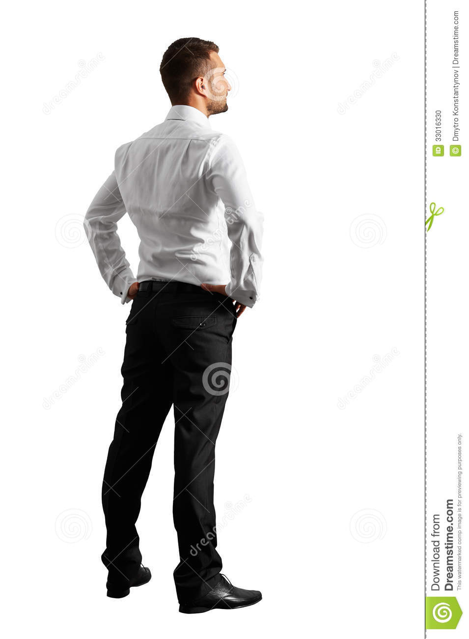 Back View Of Young Businessman Stock Photo  Image 33016330