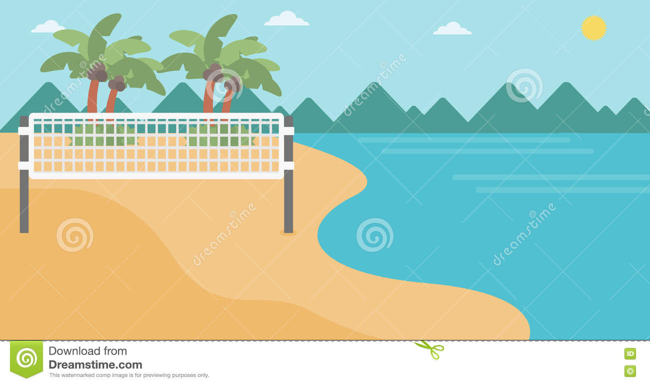 beach volleyball court diagram kia soul wiring background of at seashore stock vector
