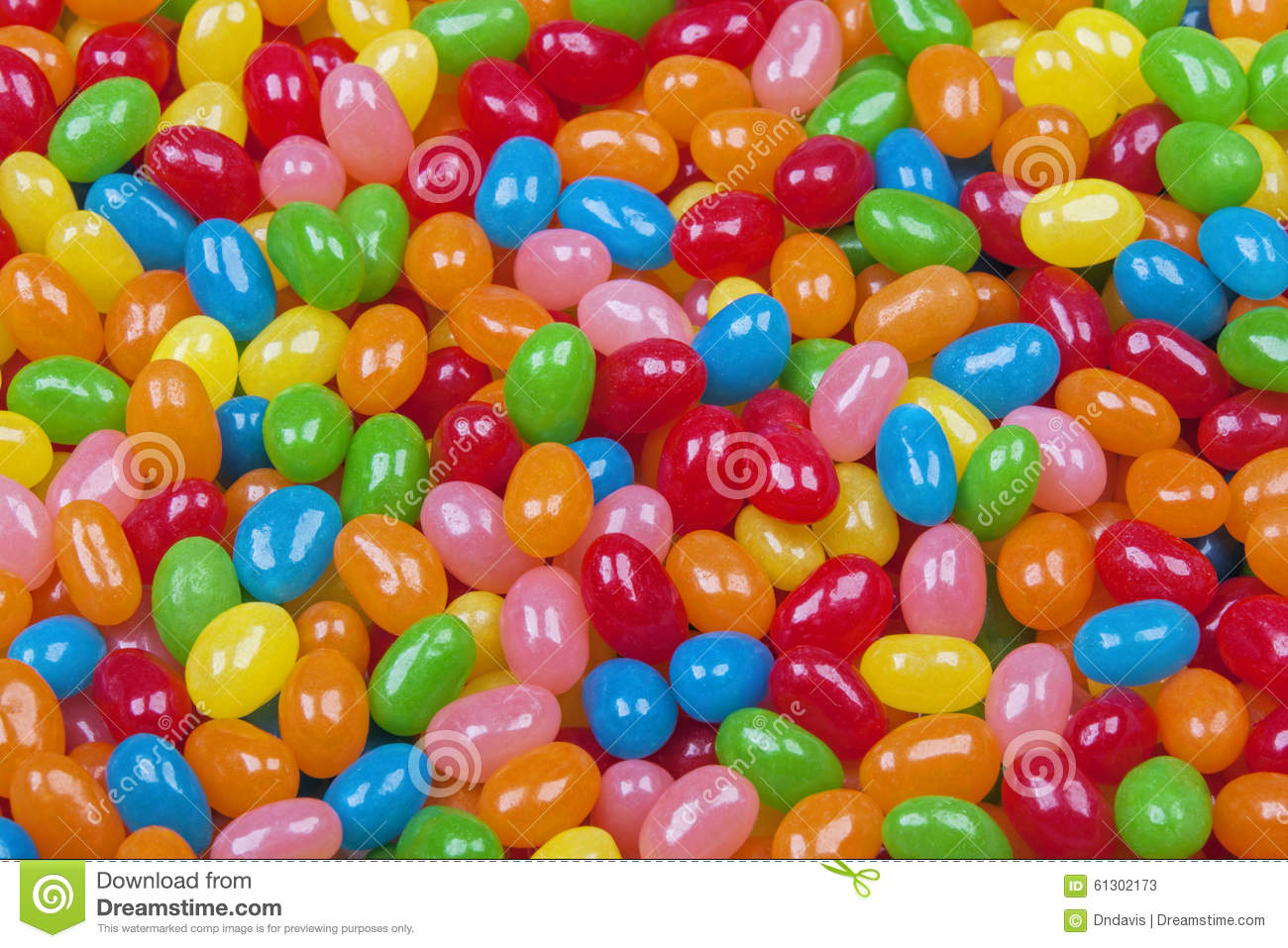 Background Of Delicious Jelly Bean Candy Stock Photo