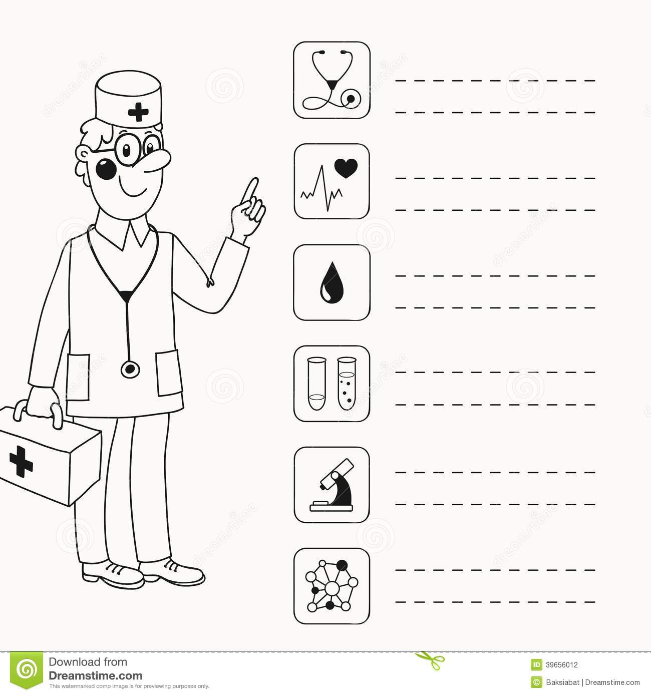 Background With A Doctor Who Gives Directives Stock Vector