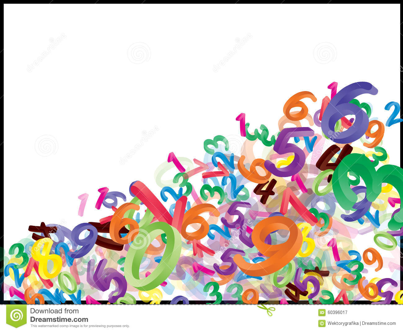 Wallpaper Border Falling Off Background Of Falling Cartoon Numbers Digits Funny