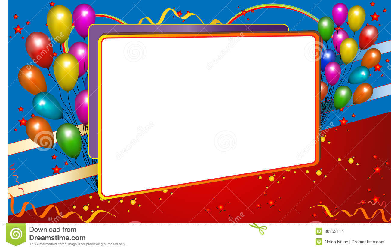Background Frame With Balloons Stock Images Image 30353114
