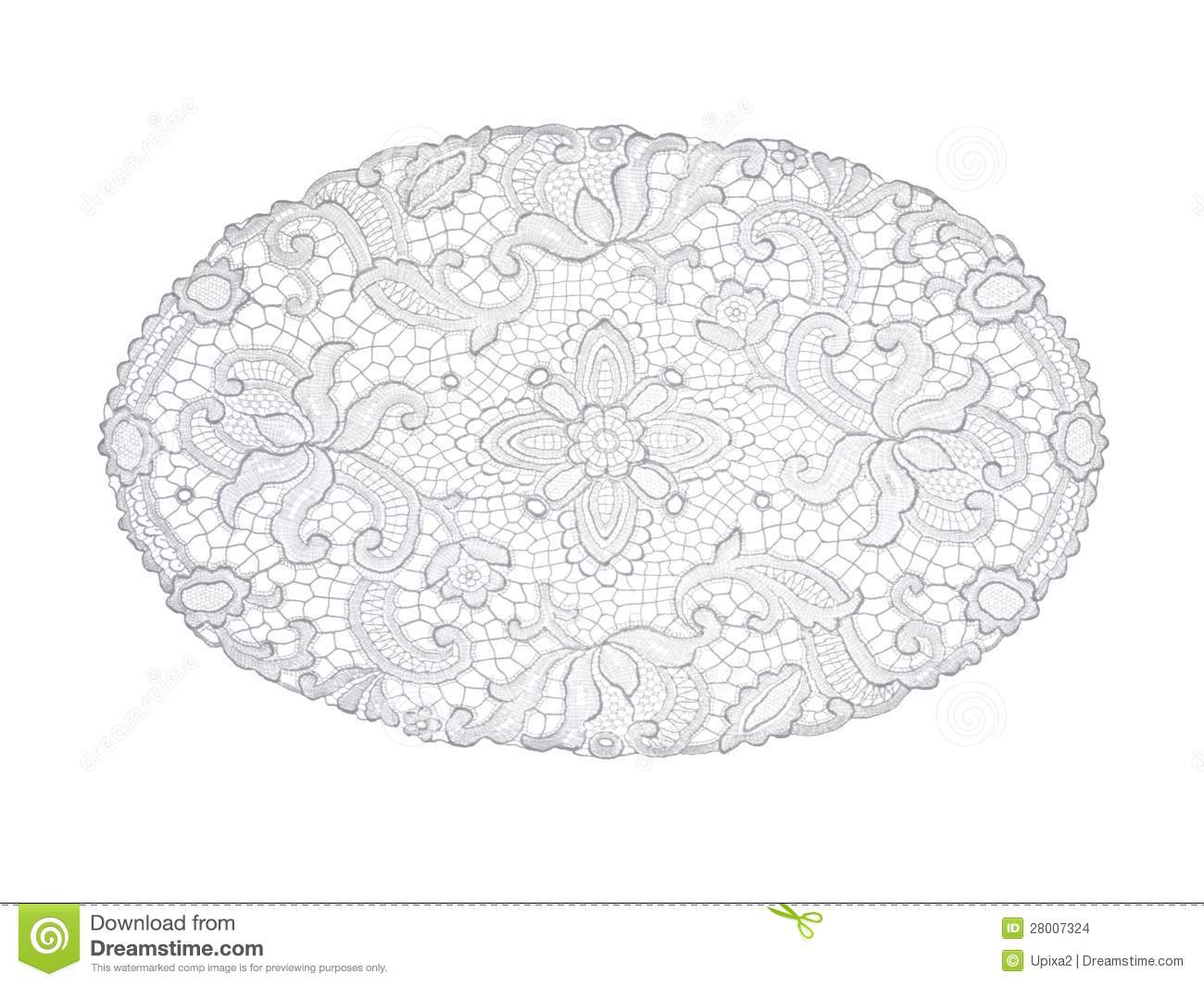 Background Lace White Doily Pattern Stock Images