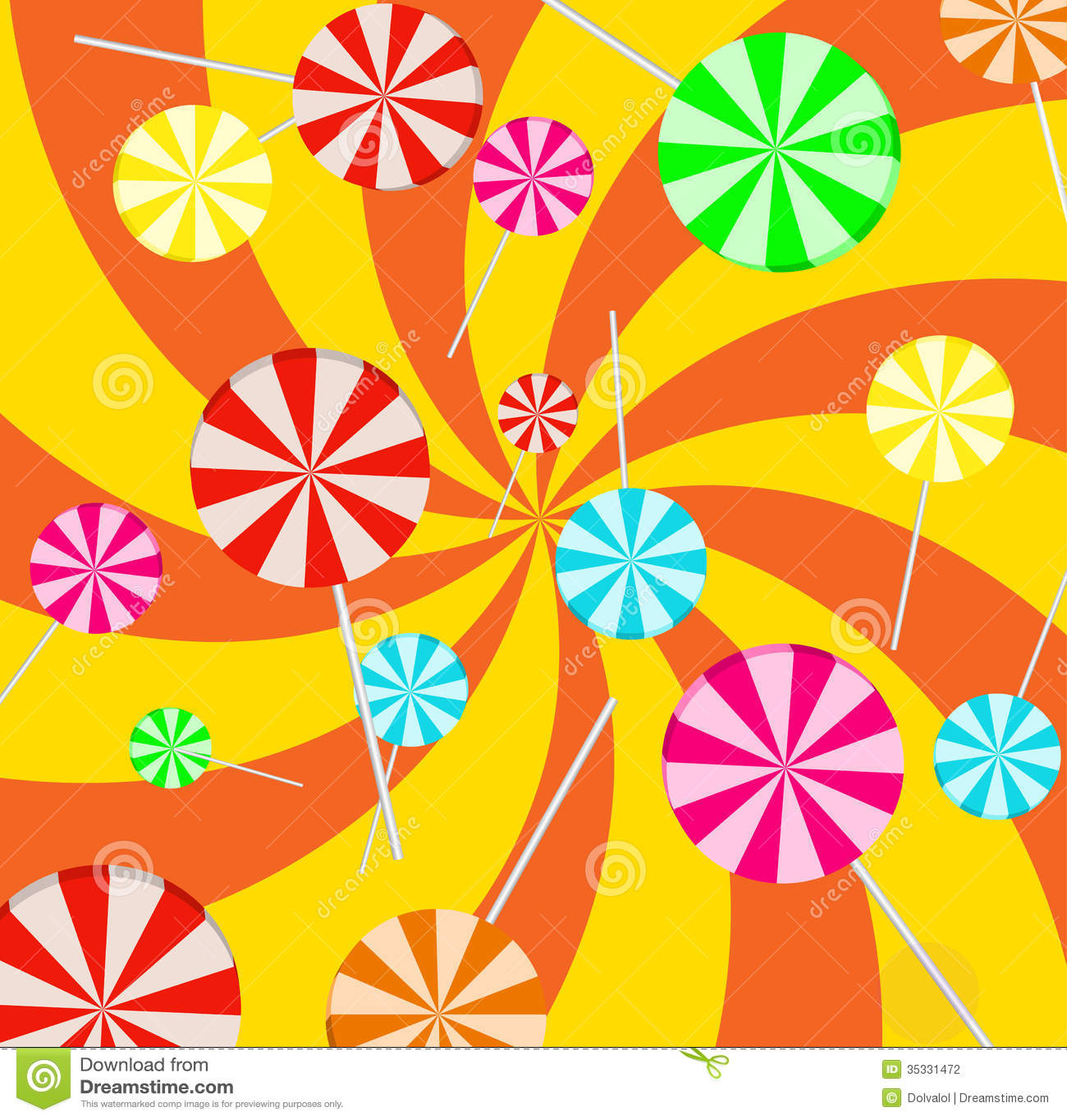 Cute Lollipop Wallpaper Background Lollipop Stock Vector Illustration Of Green