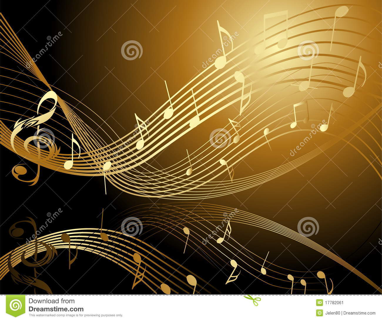 Background With Music Notes Stock Vector  Illustration of