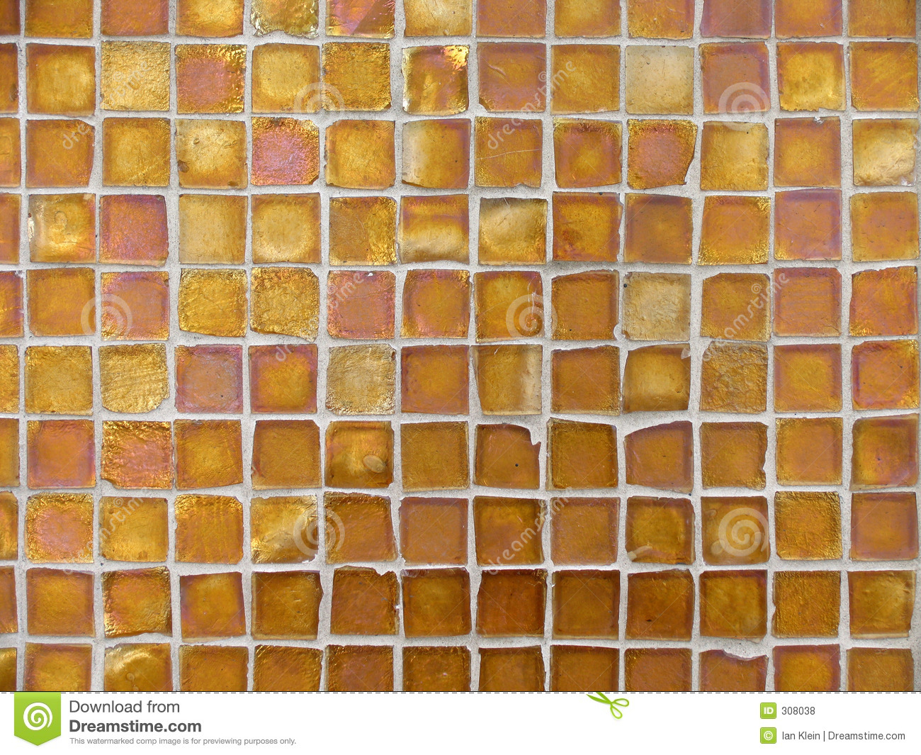 Background Pattern Of Orange And Copper Glass Tiles Stock