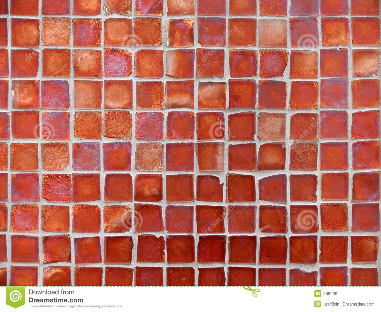 Background Pattern Of Red Glass Tiles Stock Image  Image