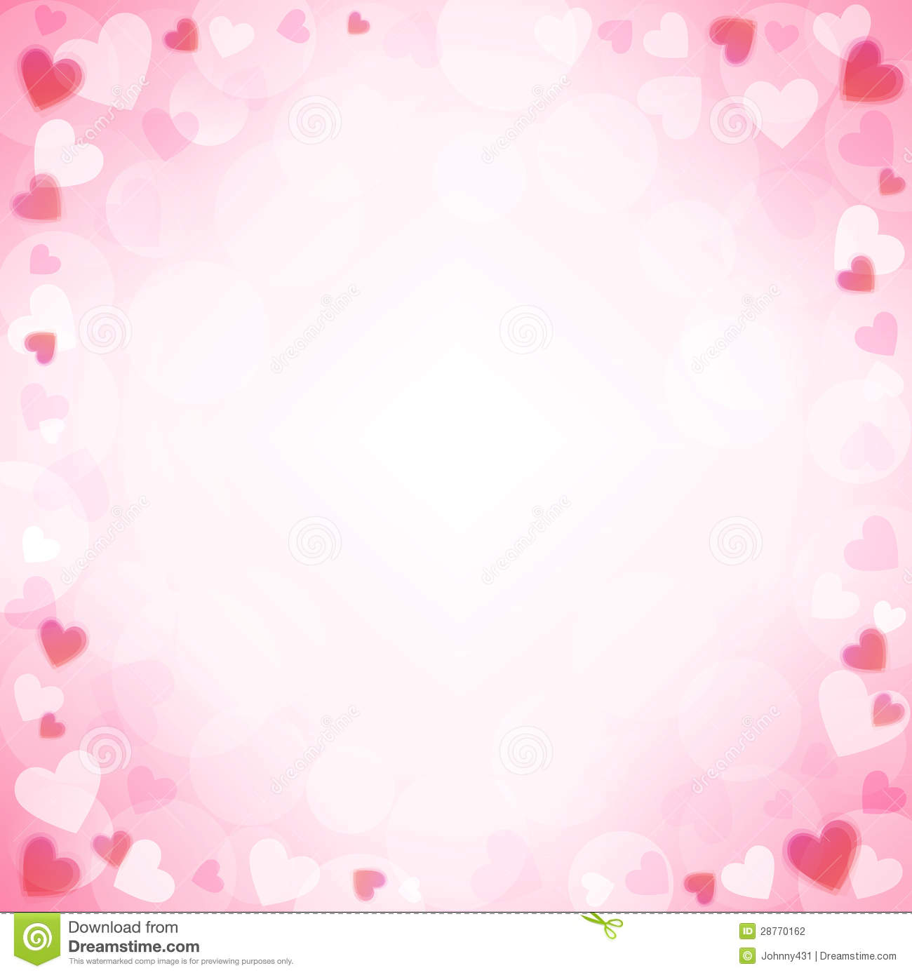 Falling Cherry Blossom Wallpaper Hd Background With Pink Hearts Stock Photography Image