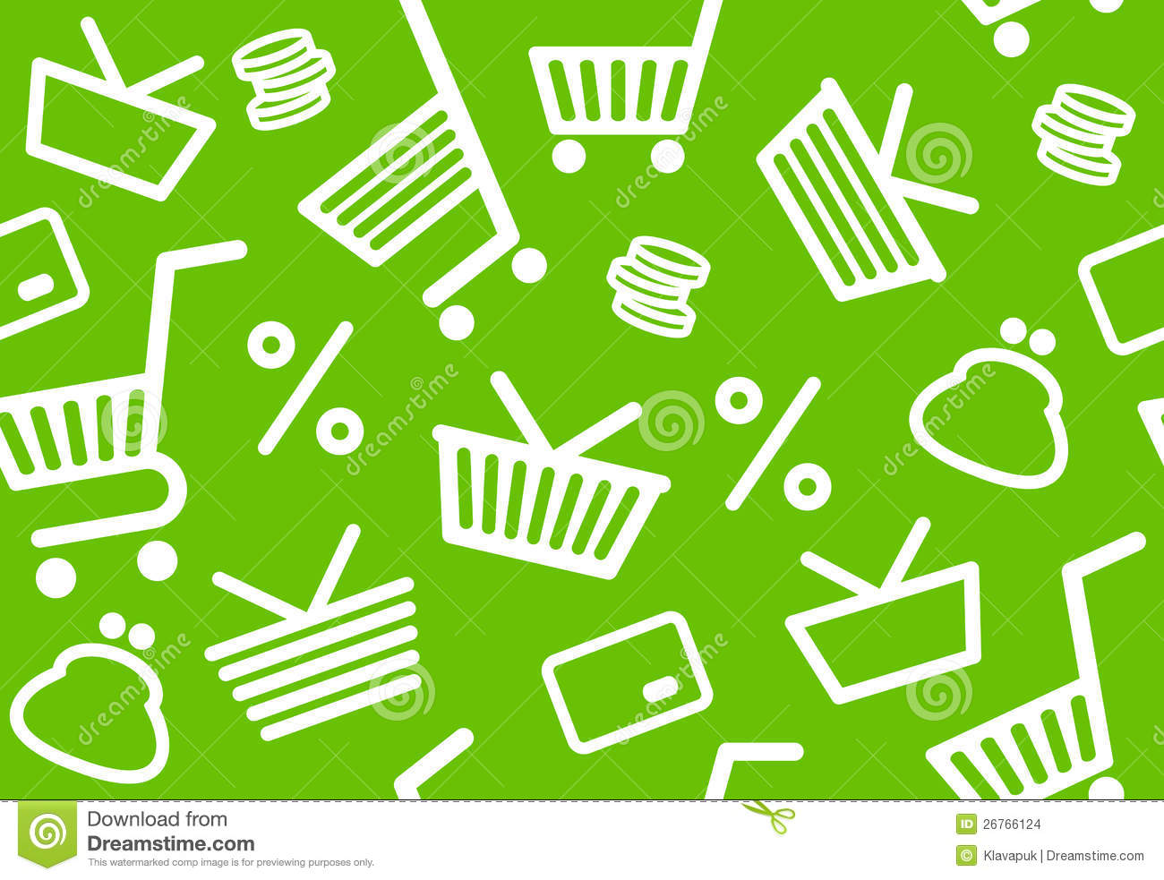 Background With Shopping Symbols Stock Images Image