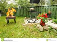 Backyard BBQ stock photo. Image of party, meal, backyard ...