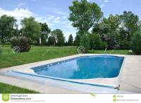 Backyard In-Ground Swimming Pool Stock Image - Image: 18655039