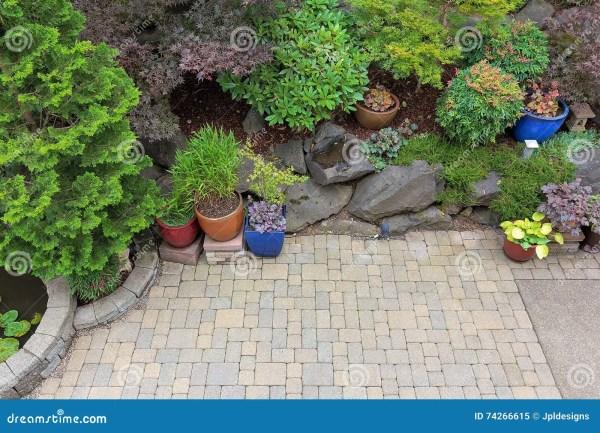 backyard paver patio landscaping