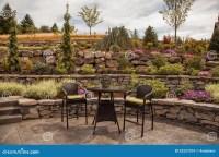 Modern Stone Terraced Luxury Yard Royalty Free Stock ...