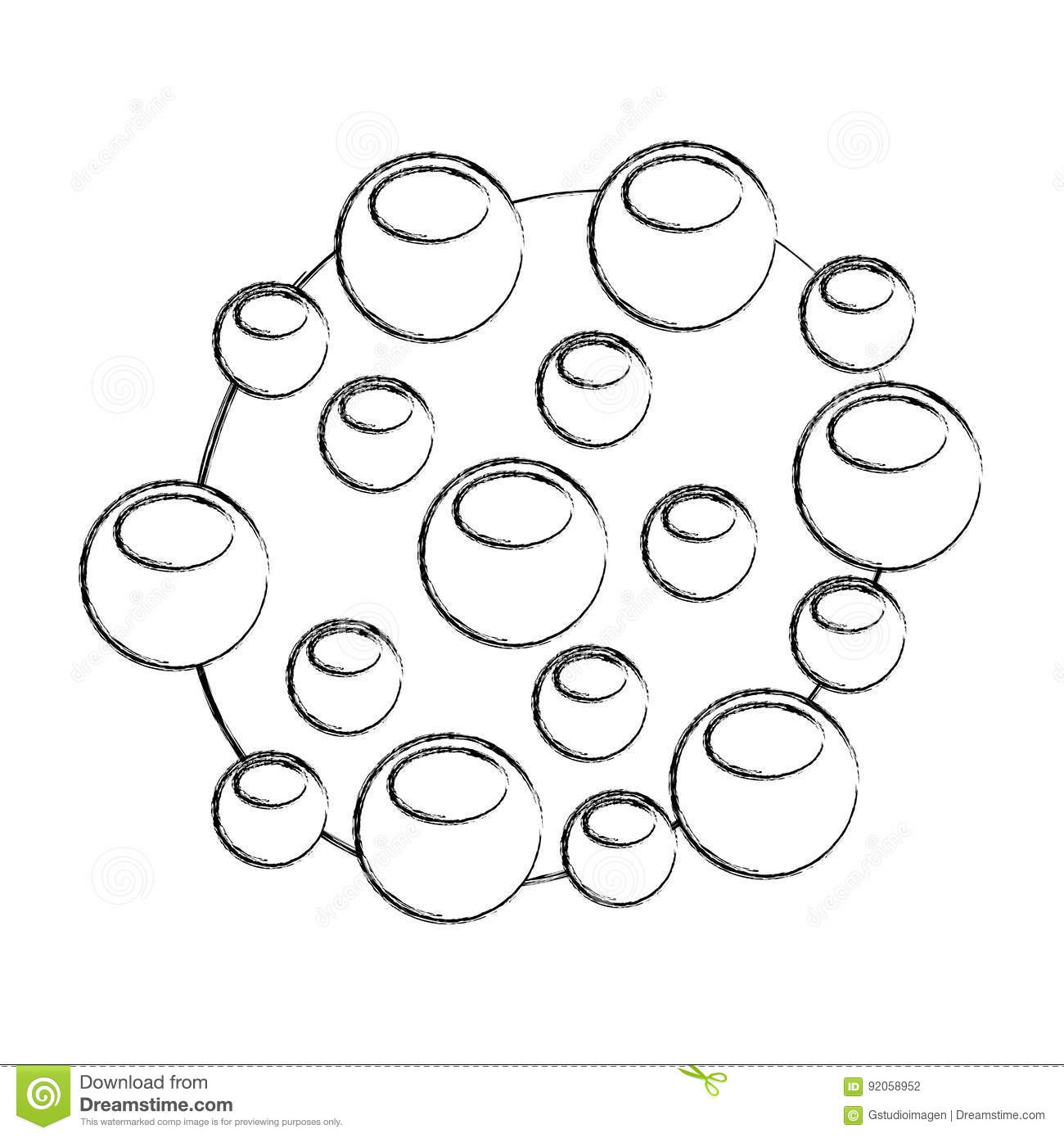 Bacterial Cell Structure Icon Stock Vector
