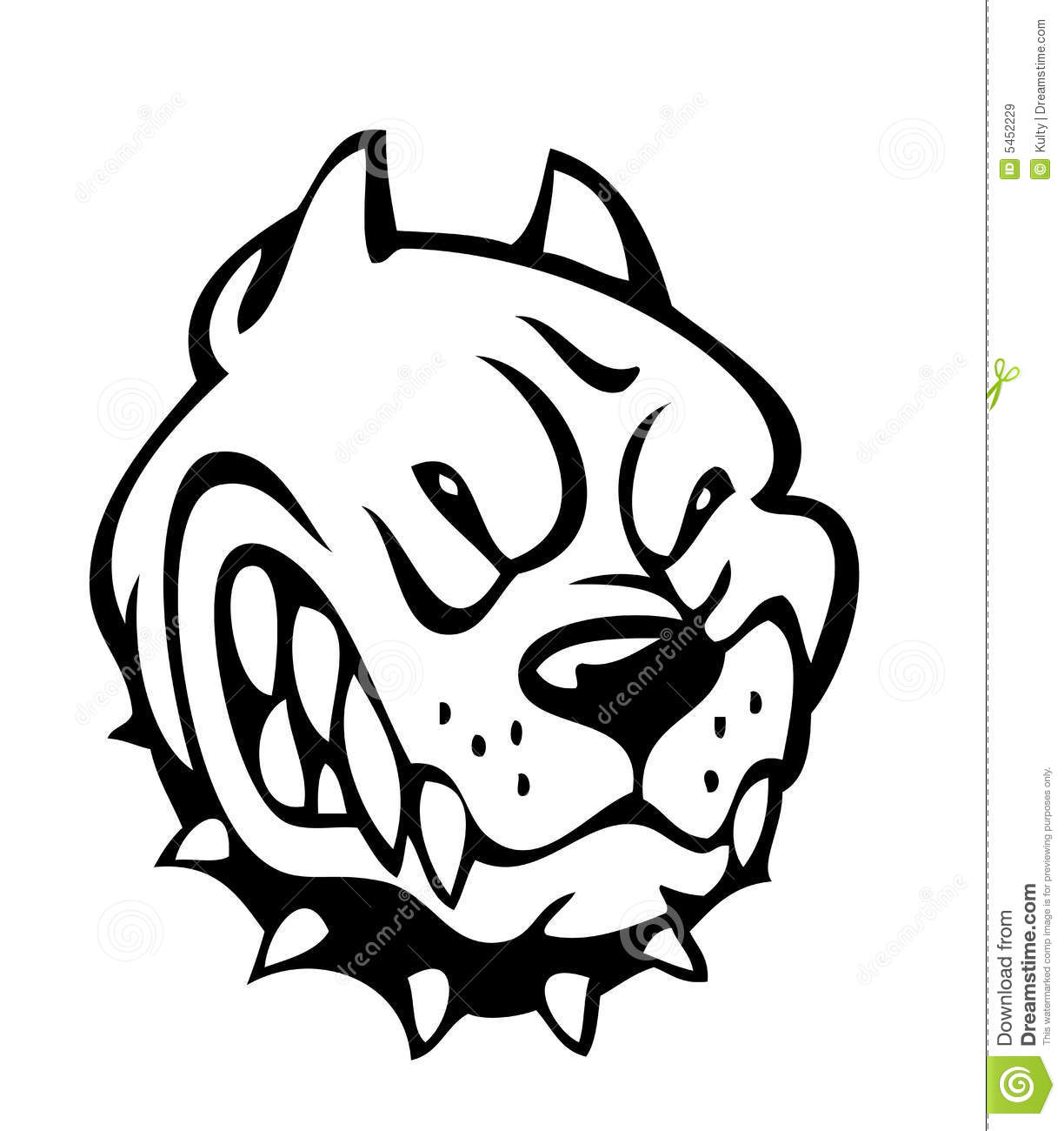 Bad Dog Stock Vector Image Of Image Bulldog Drawing