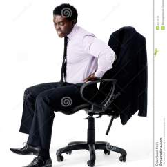 Bad Posture In Chair Eames Molded Plywood Lounge With Wood Base Back Pain Royalty Free Stock Photo Image