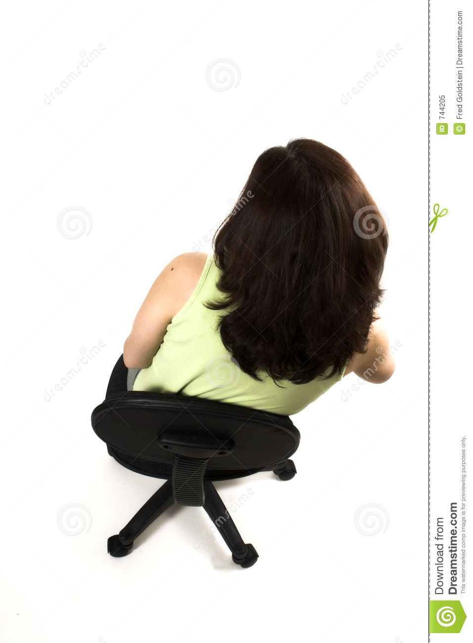 chair for office healthy kids table and set kmart bad posture of girl sitting royalty free stock photo - image: 744205
