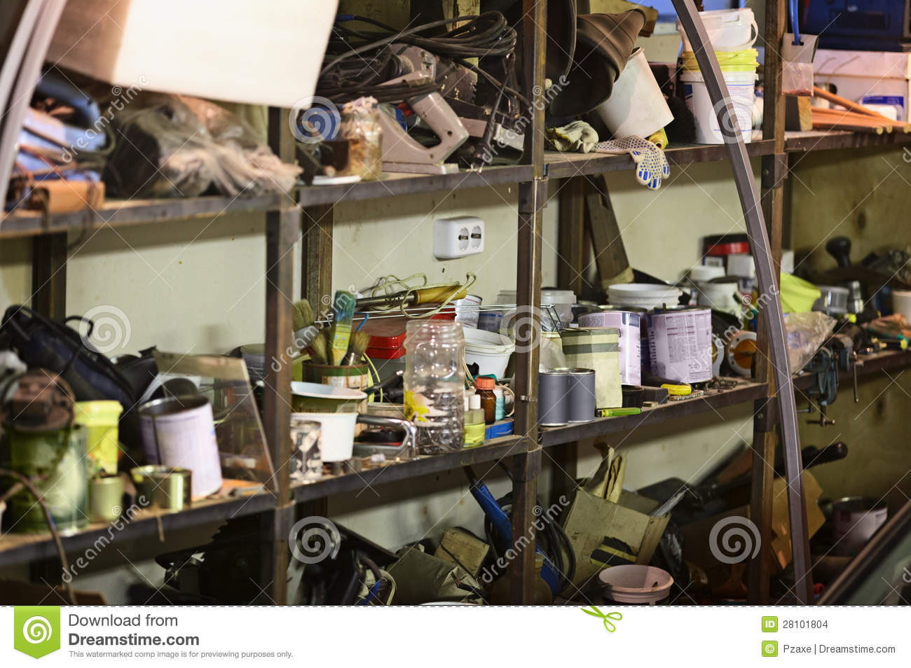 Bad Storage Of Tools And Materials Stock Images - Image: 28101804