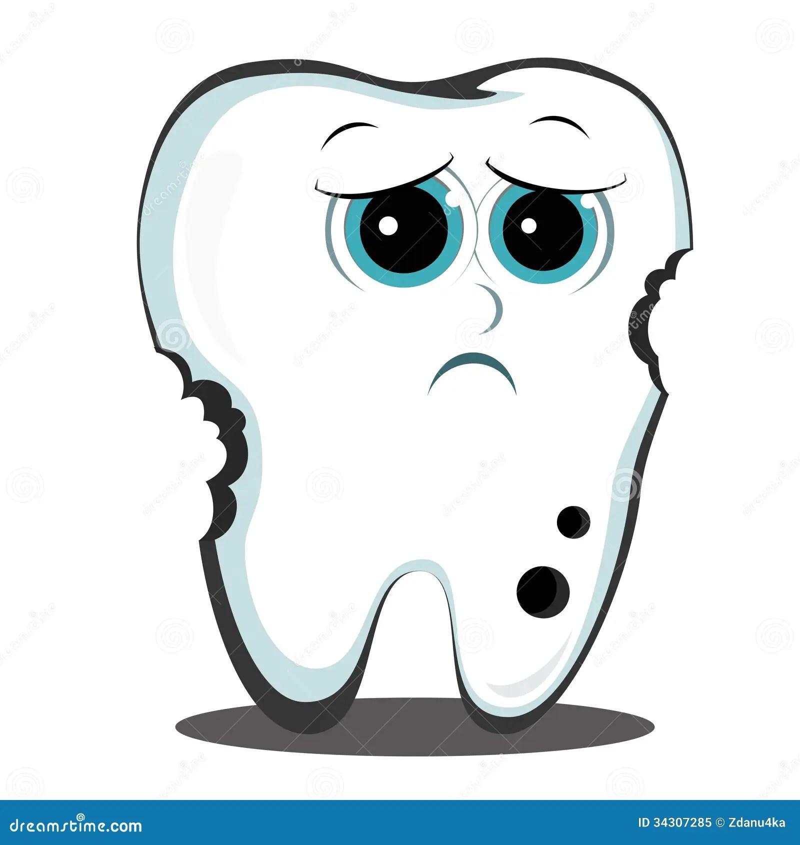 Bad Tooth Stock Vector Illustration Of Enamel Dental