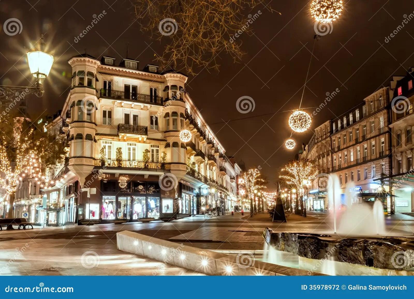 BADEN BADEN GERMANY DECEMBER 11 CITY CHRISTMAS